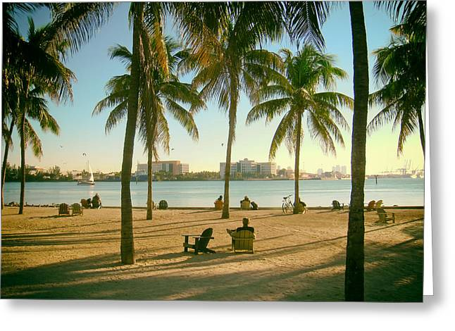 Citizens Greeting Cards - Miamis Bayfront Part Greeting Card by Mountain Dreams