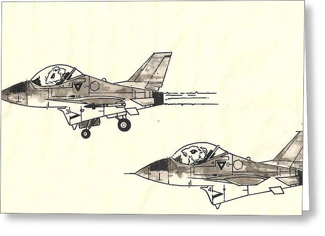 Formation Drawings Greeting Cards - Muizen Greeting Card by Julio R Lopez Jr