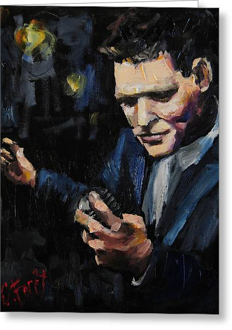 Crooner Greeting Cards - Michael Buble Greeting Card by Carole Foret