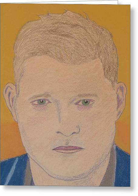 Colored Bubles Greeting Cards - Michael Buble Greeting Card by Manuel Matas