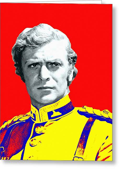 British Portraits Mixed Media Greeting Cards - Michael Caine in Zulu Greeting Card by Art Cinema Gallery