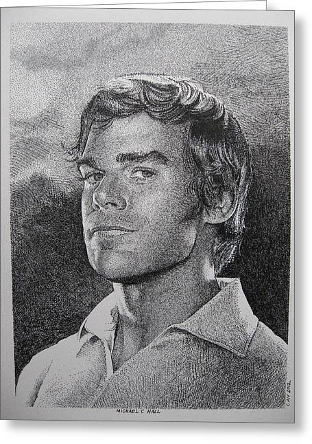 Michael C.hall. Dexter Greeting Card by C V