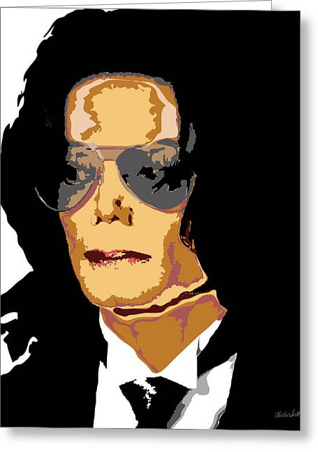 Beat It Digital Art Greeting Cards - Michael Greeting Card by Charles Smith