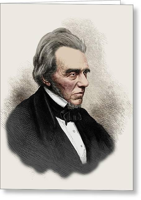 Michael Faraday Greeting Card by Maria Platt-evans