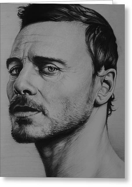 First Class Greeting Cards - Michael Fassbender Greeting Card by Steve Hunter