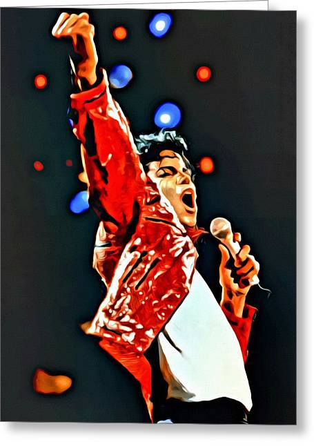 Jacko Greeting Cards - Michael Greeting Card by Florian Rodarte