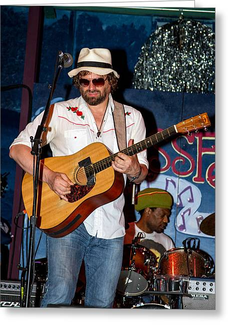 Blissfest Greeting Cards - Michael Glabicki of Rusted Root Greeting Card by Bill Gallagher