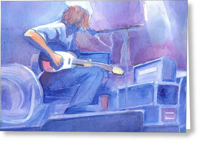 Michael Houser From Widespread Panic Greeting Card by David Sockrider