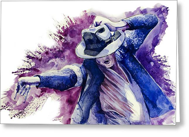 Gloves Drawings Greeting Cards - Michael Jackson 10 Greeting Card by MB Art factory