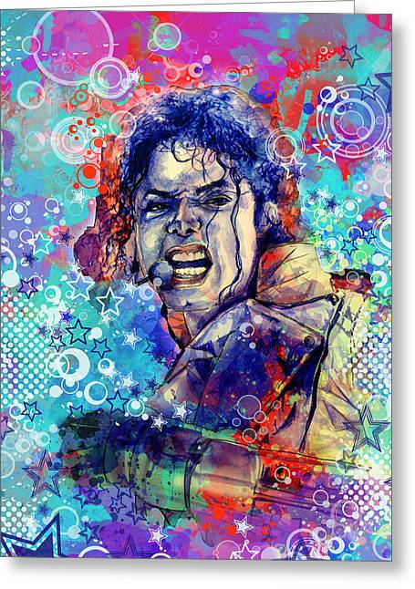 Billie Jean Greeting Cards - Michael Jackson 11 Greeting Card by MB Art factory