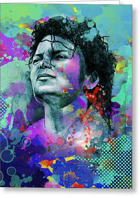 Billie Jean Greeting Cards - Michael Jackson 12 Greeting Card by MB Art factory