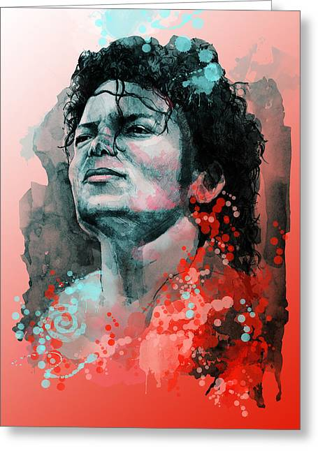Billie Jean Greeting Cards - Michael Jackson 13 Greeting Card by MB Art factory