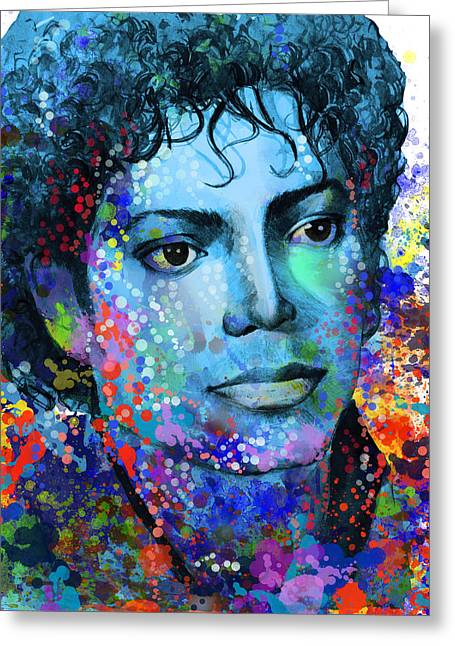 Billie Jean Greeting Cards - Michael Jackson 14 Greeting Card by MB Art factory