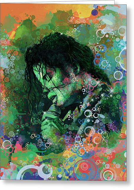 Michael Jackson Art Greeting Cards - Michael Jackson 15 Greeting Card by MB Art factory