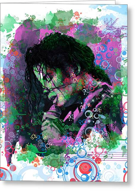 Billie Jean Greeting Cards - Michael Jackson 16 Greeting Card by MB Art factory