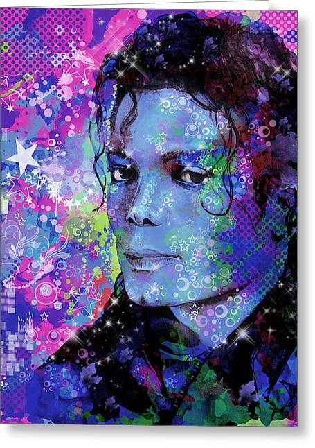 Billie Jean Greeting Cards - Michael Jackson 17 Greeting Card by MB Art factory