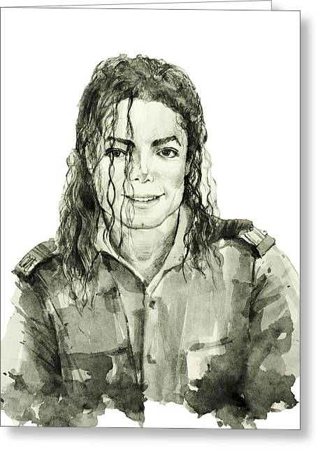 Billie Jean Greeting Cards - Michael Jackson 4 Greeting Card by MB Art factory