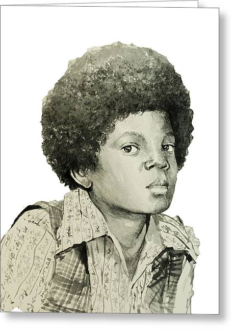 Gloves Drawings Greeting Cards - Michael Jackson 5 Greeting Card by MB Art factory