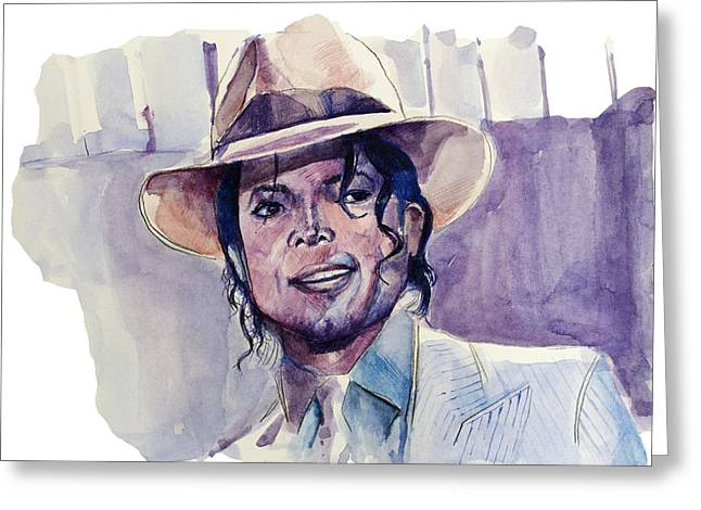 Thriller Drawings Greeting Cards - Michael Jackson 9 Greeting Card by MB Art factory