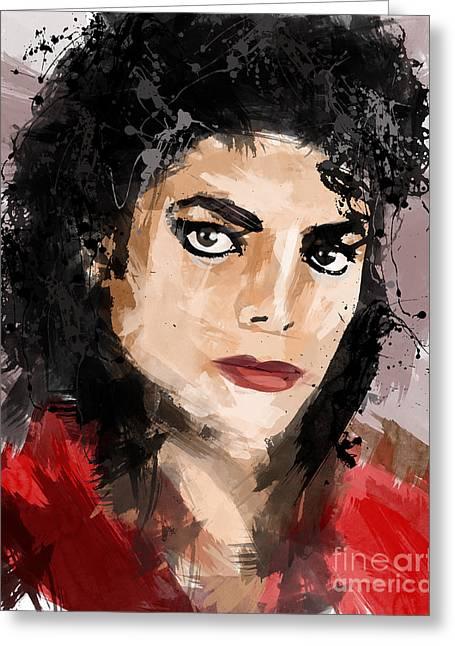 Top Selling Digital Art Greeting Cards - Michael Jackson Greeting Card by Ahmad Alyaseer