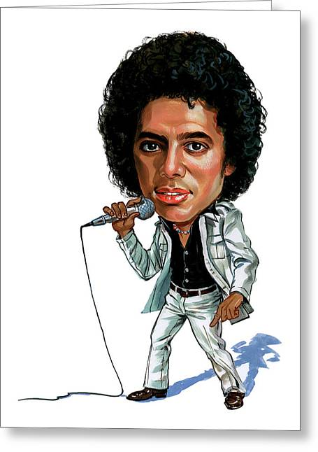 Awesome Greeting Cards - Michael Jackson Greeting Card by Art