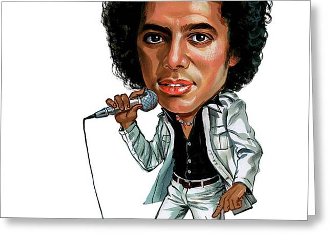 Michael Jackson Greeting Card by Art