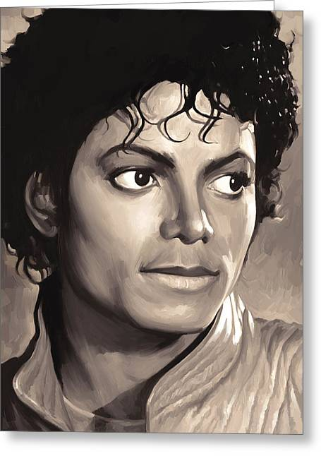 Michael Jackson Art Greeting Cards - Michael Jackson Artwork 1 Greeting Card by Sheraz A
