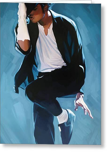 Michael Mixed Media Greeting Cards - Michael Jackson Artwork 3 Greeting Card by Sheraz A