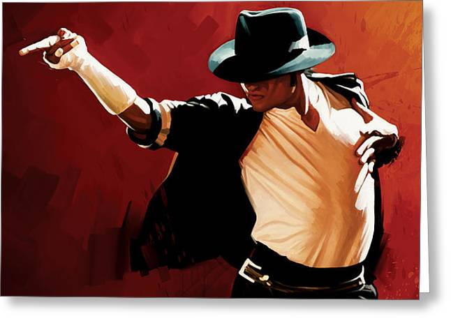Michael Jackson Art Greeting Cards - Michael Jackson Artwork 4 Greeting Card by Sheraz A