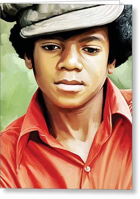 Singer Songwriter Greeting Cards - Michael Jackson Artwork 5 Greeting Card by Sheraz A