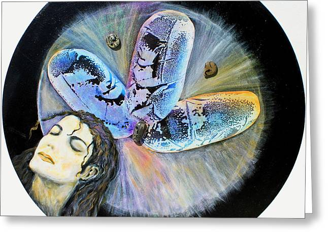 Constellations Paintings Greeting Cards - Michael Jackson  Greeting Card by Augusta Stylianou