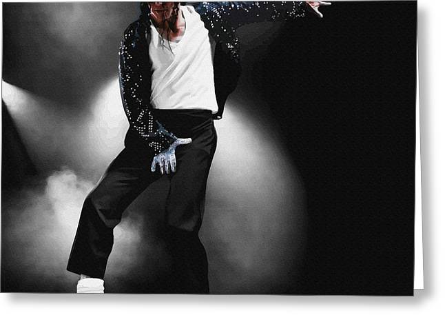 Young Michael Jackson Greeting Cards - Michael Jackson - Billie Jean Greeting Card by Don Kuing