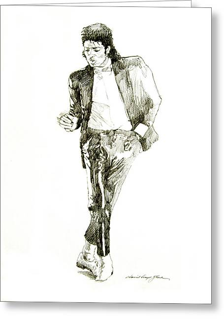 Most Favorite Drawings Greeting Cards - Michael Jackson Billy Jean Greeting Card by David Lloyd Glover