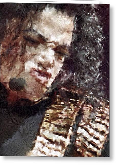Michael Jackson Greeting Cards - Michael Jackson Concert 1 Greeting Card by Yury Malkov