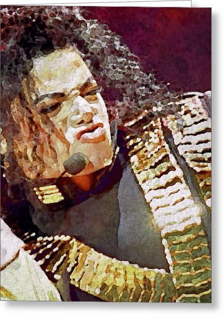 Michael Jackson Greeting Cards - Michael Jackson Concert 2 Greeting Card by Yury Malkov
