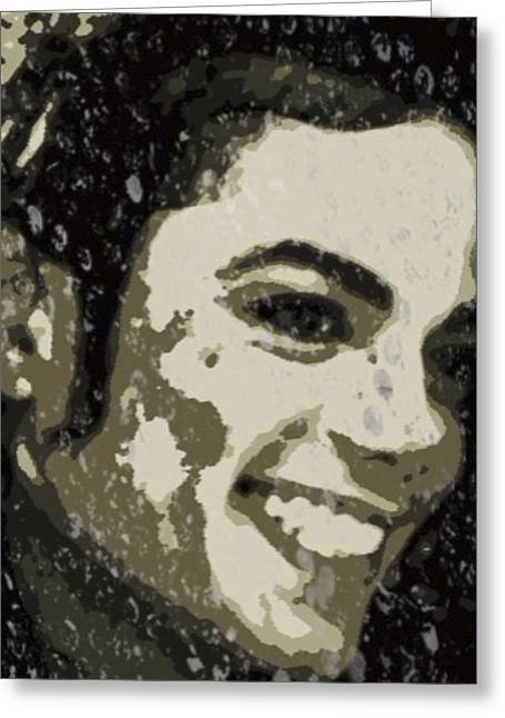 Live Music Digital Art Greeting Cards - Michael Jackson Concert 3 Greeting Card by Yury Malkov