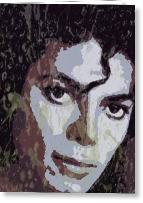 Michael Jackson Greeting Cards - Michael Jackson Concert 4 Greeting Card by Yury Malkov