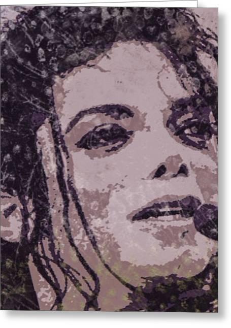 Michael Jackson Greeting Cards - Michael Jackson Concert 7 Greeting Card by Yury Malkov