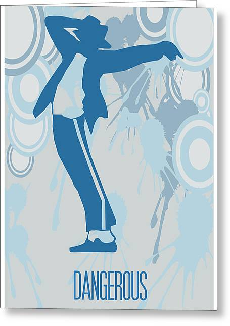 Jacko Greeting Cards - Michael Jackson Dangerous Poster Greeting Card by Florian Rodarte