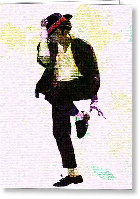 Fame Greeting Cards - Michael Jackson Feeling It Greeting Card by Brian Reaves
