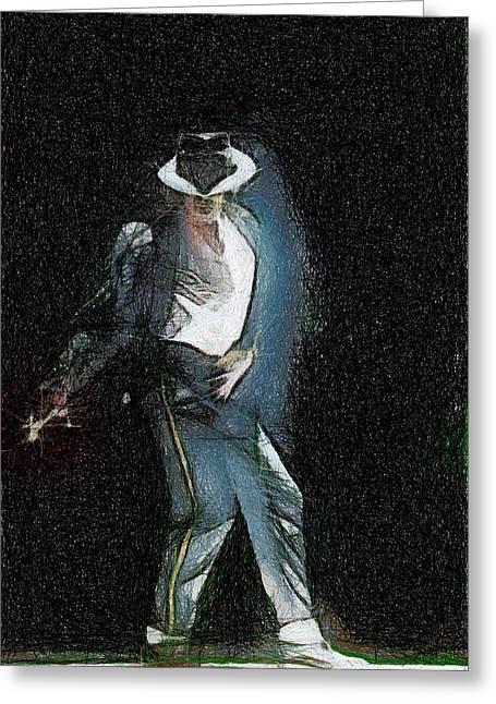 Mj Greeting Cards - Michael Jackson Greeting Card by Georgi Dimitrov