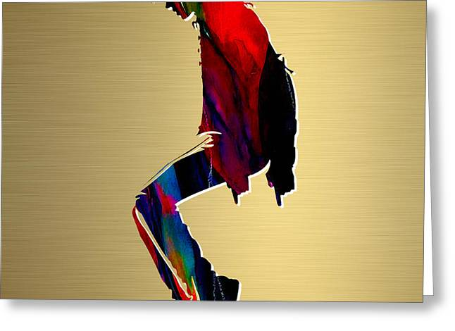 Michael Greeting Cards - Michael Jackson Gold Series Greeting Card by Marvin Blaine