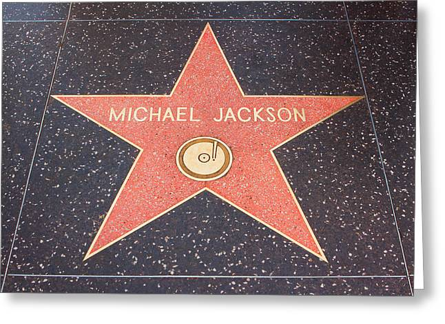 Angeles Forest Greeting Cards - MIchael Jackson - Hollywood California Greeting Card by Ram Vasudev