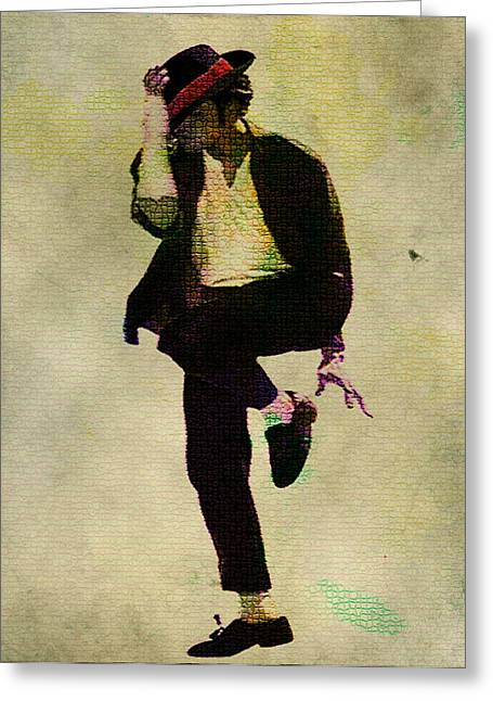 Jackson 5 Digital Art Greeting Cards - Michael Jackson In a Zone Greeting Card by Brian Reaves