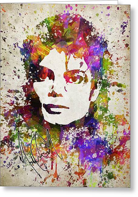 Michael Jackson Art Greeting Cards - Michael Jackson in Color Greeting Card by Aged Pixel