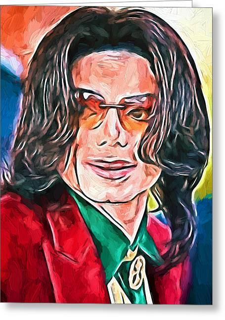 Michael Jackson Greeting Cards - Michael Jackson Live Greeting Card by Yury Malkov