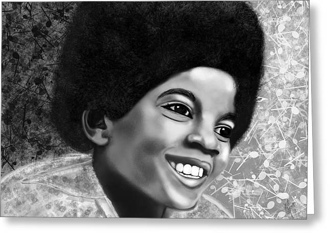 Young Michael Jackson Greeting Cards - Michael Jackson  Greeting Card by Mathieu Lalonde