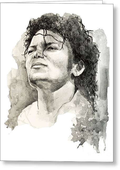 Billie Jean Greeting Cards - Michael Jackson Greeting Card by MB Art factory