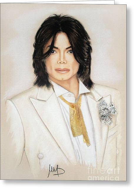 Disco Mixed Media Greeting Cards - Michael Jackson Greeting Card by Melanie D