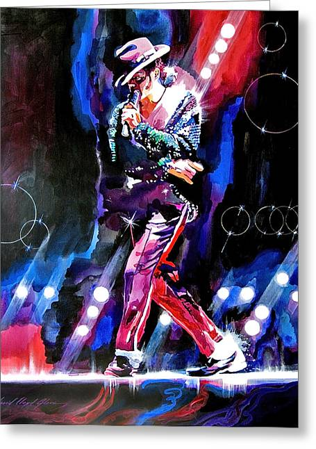Michael Jackson Art Greeting Cards - Michael Jackson Moves Greeting Card by David Lloyd Glover